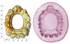 CORNICE ovale / NASTRI E ROSE Craft Sugarcraft sapone cioccolato stampo Stampo