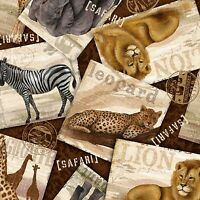 Springs Creative Safari Travels 100% cotton Fabric by the yard
