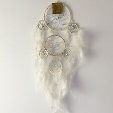 NEW WHITE IVORY COLOUR FEATHER DREAM CATCHER NATIVE AMERICAN MOBILE