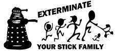 Dalek Exterminate Stick Figure Family Vinyl  Decal Sticker Doctor Who Inspired