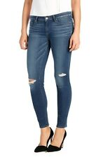 NEW ANTHROPOLOGIE PAIGE VERDUGO ANKLE SKINNY JEANS IN DARCY DESTRUCTED SIZE 30