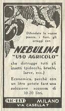 """W6109 Nebulina """"uso agricolo"""" - SIC_EST Milano - Pubblicità 1934 - Advertising"""