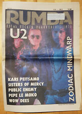Finnish Rumba Magazine 3 / 1988 : U2 Cover & Feature