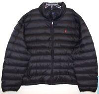 Polo Ralph Lauren Big & Tall Mens 2XB Black Packable Down Winter Jacket NWT 2XB