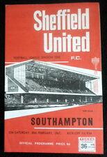 Sheffield United v  Southhampton      25-2-1967