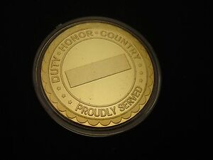 """US Navy """"DUTY-HONOR-COUNTRY PROUDLY SERVED"""" Challenge Coin"""