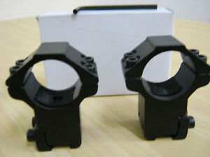 """PAO Match Grade Rifle Scope MOUNTS 2-Piece 25mm-Tube HIGH 11mm 3/8"""" Dovetail"""