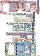 OMAN  SET  6 NOTES  2000/2010  UNC