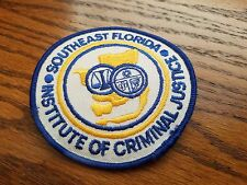 "SOUTHEAST FLORIDA INSTITUTE of CRIMINAL JUSTICE  3 1/2"" PATCH"