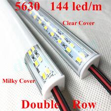 24V Corner Double Row 5630 LED Bar Light V Shell Milky Clear Cover Warm White #4