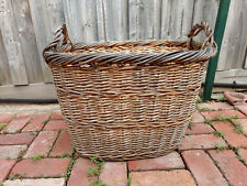 Vintage Cane Laundry Basket