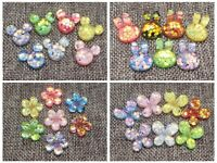 25  Mixed Color Flatback Resin Glitter Crystal Cabachons  Scrapbooking Craf
