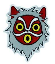 Princess Mononoke San Wolf Mask Patch Iron on Applique Alternative Clothing Anim