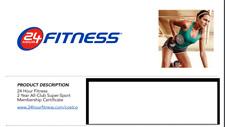 24 Hour Fitness 2-year ALL-CLUB SUPER SPORT Membership