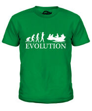 ROWING BOAT EVOLUTION KIDS T-SHIRT TEE TOP GIFT ROWER GIFT S