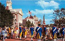 Liberty Square Fife and Drum Corps Disney World Orlando Postcard