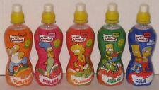 Simpsons Juice Cola Plastic Bottle Set Bart Homer Lisa Marge Czech 2010