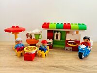 Duplo LEGO Town Pizzeria Pizza Shop Set Delivery Motorbike w/ Figures 10834