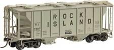 HO Scale KADEE 8658 ROCK ISLAND PS-2, 2-Bay 2003 Cu. Ft. Covered Hopper # 7587