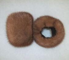 Vison fourrure Manchettes zibeline synthetique pulswärmer veste manteau fourrure Mink pelt