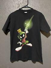 Vtg 90s 1995 Looney Tunes Marvin the Martian Tee T Shirt Black Medium