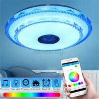 Large 50CM Remote APP Control RGB LED Ceiling Light bluetooth Music Speaker Lamp