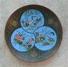 Antique Meiji Period Japanese Cloisonne Platter 12 Inch Diameter