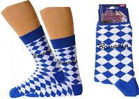 Oktoberfest Socken Bayern Rauten Fasching Karneval blau/weiss