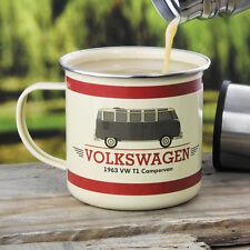 Volkswagen Split Screen T1 Campervan Enamel Tin Mug, Splitty