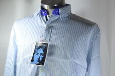 English Laundry Shirt John Lennon Imagine Art White + Blue Stripe L NEW NWT #91