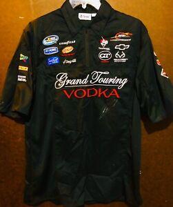 NASCAR Aric Almirola grand touring vodka Crew Shirt RACE WORN