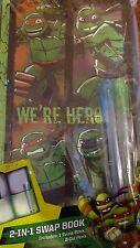 Teenage Mutant Ninja Turtles 2-In-1 Swap Book 2 Pens Journal Drawing Sketch Pad