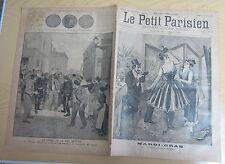 Le petit parisien 1893 211 Mardi-gras Le départ pour le bal masqué