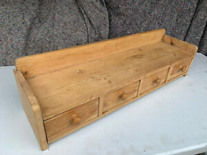 Solid pine freestanding shelf unit with 4 small drawers NSE040721AA