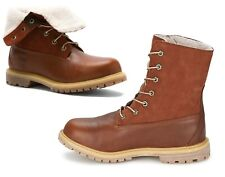 Timberland Damen Boots Authentics Teddy Fleece Fold-Down rot-braun