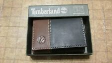 Timberland Wallet Black/Brown trifold free shipping brand new