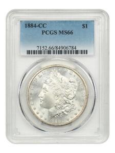 1884-CC $1 PCGS MS66 - Popular CC-Mint Issue - Morgan Silver Dollar