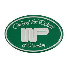 Classic Wood and Pickett Oval Gel Adhesive Badge In Green & Chrome LMG9013