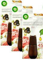 3 x Air Wick Essential Mist Refill Peony & Jasmine Fragrant Mist Diffuser 20ml
