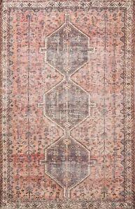 MEMORIAL SALE Antique Geometric Traditional Area Rug Wool Oriental Handmade 6x9