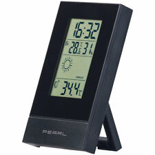 PEARL Digitale Wetterstation mit Uhrzeit, Wecker und Wetterprognose