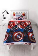 Marvel Captain America Civil War Reversible Single Duvet Cover Pillowcase Set