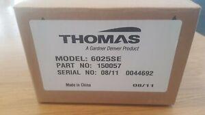 Thomas Linear Diaphragm Compressor/Vacuum Pump 150057 Model 6025SE 60 Hz, 115V