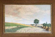 Albert DELASTRE actif XIX-XXe.Longpont.1898.Pastel.SBD.26x42.Cadre