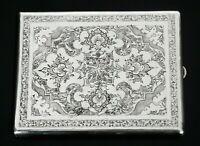 Attractive Persian Silver Cigarette Case