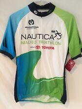 Sugoi Cycling Jersey Nautica Malibu Triathlon Toyota 3/4 Zip Fino Tech Size M