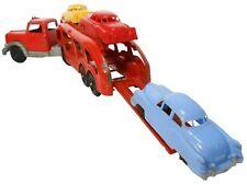 Hubley Mid-20Th C Vint Enml Pntd Prsd Steel Car Transport Truck W/3 Polymer Cars