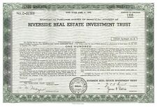 Riverside Real Estate Investment Trust > 1972 Chicago Illinois stock certificate