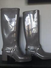 22e8dd25e1a Jimmy Choo Heeled Wellington Boots Grey Uk 3