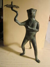 Vintage Brass 7 Inch tall Monkey Holding Torch or Candle